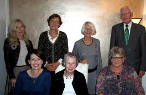 Bestuur 2014 vlnr Ymkje Damsma (secretariaat), Thora Hafsteinsdottir, Binie Geut, Johanna Diepeveen, Yvonne Roozing, Anne Wouters, Mebius Kramer